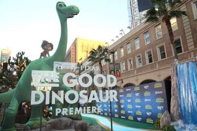 HOLLYWOOD, CA - NOVEMBER 17:  A view of the atmosphere at the World Premiere Of Disney-Pixar's THE GOOD DINOSAUR at the El Capitan Theatre on November 17, 2015 in Hollywood, California.  (Photo by Jesse Grant/Getty Images for Disney)