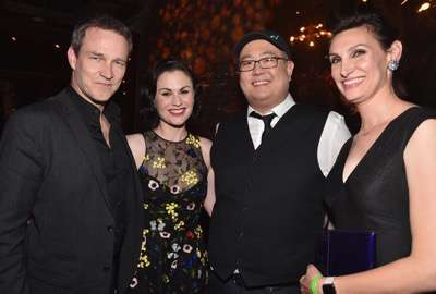 HOLLYWOOD, CA - NOVEMBER 17: (L-R) Actors Stephen Moyer and Anna Paquin, director Peter Sohn and artist Anna Chambers attend the World Premiere Of Disney-Pixar's THE GOOD DINOSAUR at the El Capitan Theatre on November 17, 2015 in Hollywood, California.  (Photo by Alberto E. Rodriguez/Getty Images for Disney) *** Local Caption *** Stephen Moyer; Anna Paquin; Peter Sohn; Anna Chambers