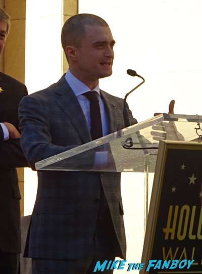 Daniel Radcliffe walk of fame star ceremony signing autographs 1