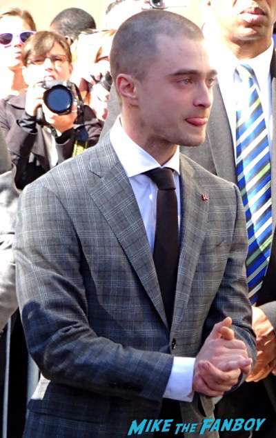 Daniel Radcliffe walk of fame star ceremony signing autographs 5