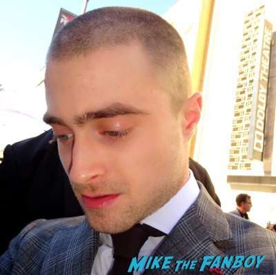 Daniel Radcliffe walk of fame star ceremony signing autographs 1