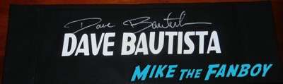 Dave Bautista signed guardians of the galaxy director's chair back
