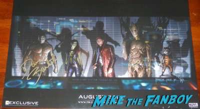 Dave Bautista signed guardians of the galaxy concept art poster