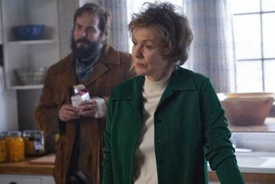 "FARGO -- ""Before The Law"" -- Episode 202 (Airs October 19, 10:00 pm e/p) Pictured: (l-r) Angus Sampson as Bear Gerhardt, Jean Smart as Floyd Gerhardt."