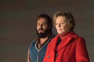"FARGO -- ""The Myth of Sisyphus"" -- Episode 203 (Airs October 26, 10:00 pm e/p) Pictured: (l-r) Angus Sampson as Bear Gerhardt, Jean Smart as Floyd Gerhardt."