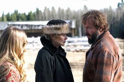 "FARGO -- ""Did You Do This? No, you did it!"" -- Episode 207 (Airs Monday, November 23, 10:00 pm e/p) Pictured: (l-r) Jean Smart as Floyd Gerhardt, Angus Sampson as Bear Gerhardt. CR: Chris Large/FX"