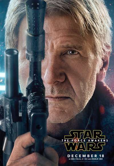 han solo the force awakens character poster