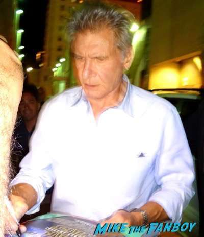 Harrison Ford Signing Autographs Jimmy Kimmel live 2015 2