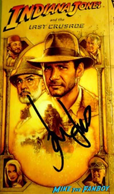 Harrison Ford signed autograph indiana jones and the last crusade vhs cover