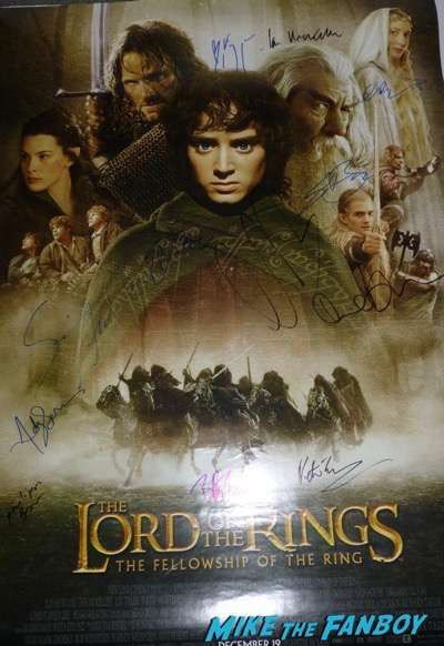 Ian McKellan signed autograph lord of the rings poster