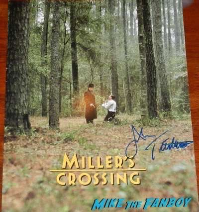 John Turturro signed autograph miller's crossing poster screening program