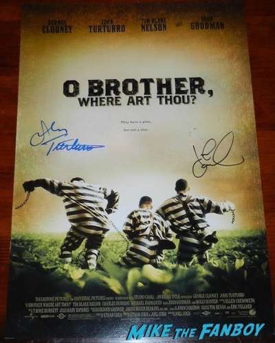 John Turturro signed o Brother where art thou poster