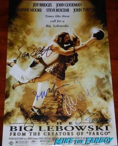 John Turturro signed The Big Lebowski poster