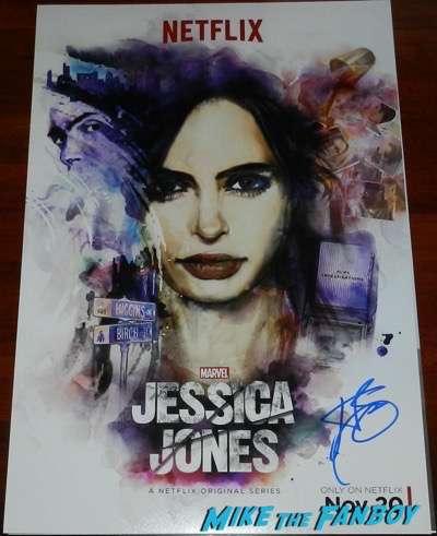 Krysten Ritter signed jessica jones poster autograph