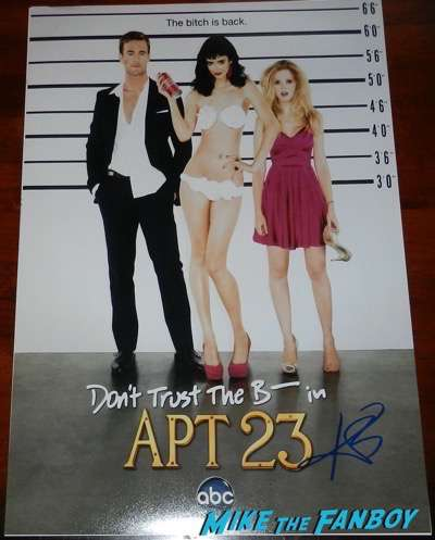 Krysten Ritter signed don't trust the B in apt 23 poster autograph