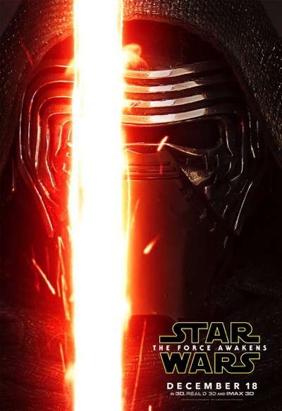 kylo ren the force awakens character poster