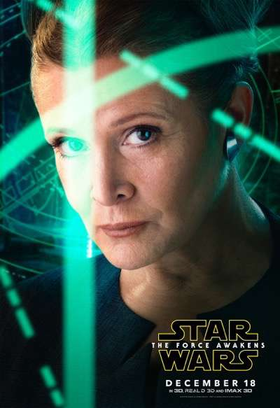 LeiaTFA Rey the force awakens character poster