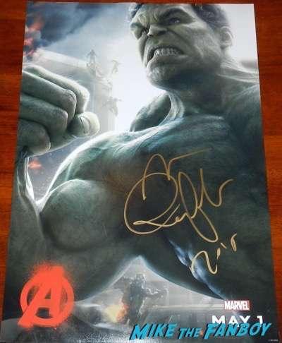 Mark Ruffalo signed autograph hulk avengers age of ultron poster