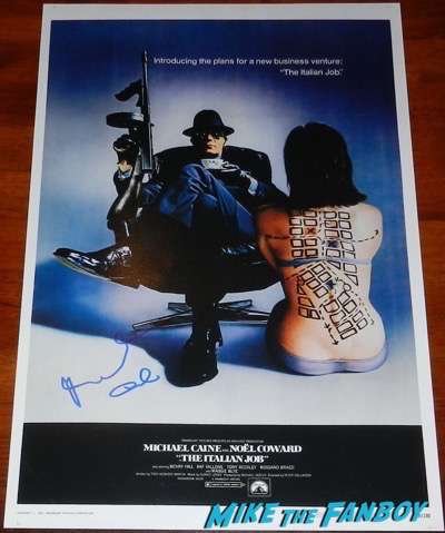 Michael Caine signed autograph the italian job poster