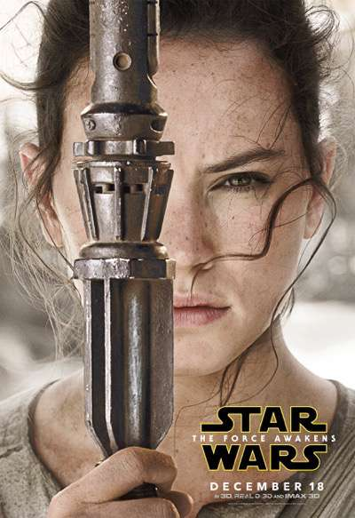 Rey the force awakens character poster
