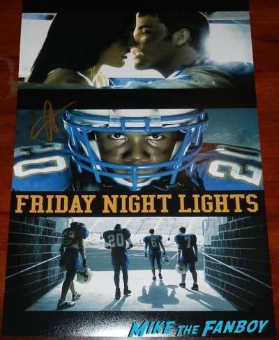 Adrianne Palicki  signed autograph friday night lights poster