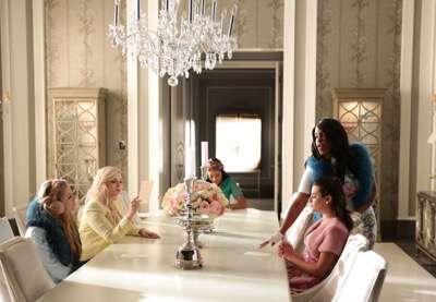 "SCREAM QUEENS: L-R: Billie Lourd, Abigail Breslin, Keke Palmer, Niecy Nash and Lea Michele in the ""Mommie Dearest"" episode of SCREAM QUEENS airing Tuesday, Nov. 10 (9:00-10:00 PM ET/PT) on FOX. ©2015 Fox Broadcasting Co. Cr: Patti Perret/FOX."