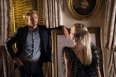 "SCREAM QUEENS: L-R: Guest star Chad Michael Murray and Emma Roberts in the ""Thanksgiving"" episode of SCREAM QUEENS airing Tuesday, Nov. 24 (9:00-10:00 PM ET/PT) on FOX. ©2015 Fox Broadcasting Co. Cr: Cook Allender/FOX."