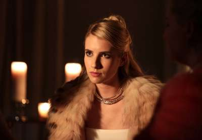"SCREAM QUEENS: Emma Roberts in the ""Beware Of Young Girls"" episode of SCREAM QUEENS airing Tuesday, Nov. 3 (9:00-10:00 PM ET/PT) on FOX. ©2015 Fox Broadcasting Co. Cr: Patti Perret/FOX."