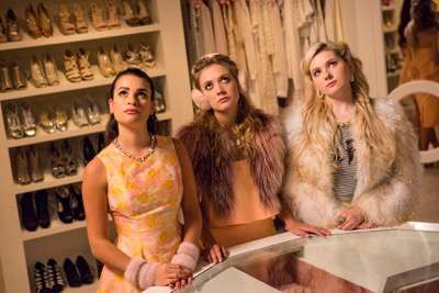 "SCREAM QUEENS: L-R: Emma Roberts, Billie Lourd, Abigail Breslin, Keke Palmer and Skyler Samuels in the ""Ghost Stories"" episode of SCREAM QUEENS airing Tuesday, Nov. 17 (9:00-10:00 PM ET/PT) on FOX. ©2015 Fox Broadcasting Co. Cr: Steve Dietl/FOX."