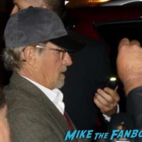Steven Spielberg signing autographs bridge of spies q and a 1