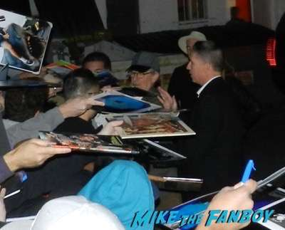 Steven Spielberg signing autographs bridge of spies q and a 8