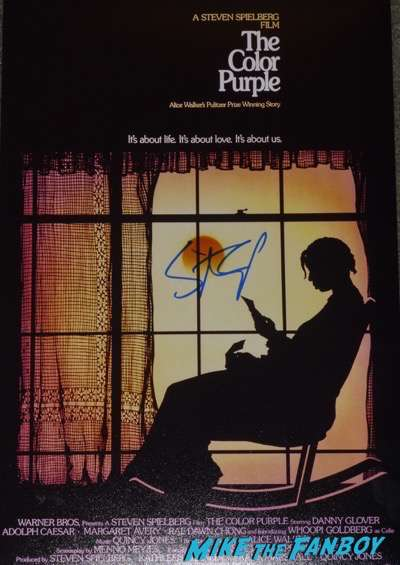 Steven Spielberg signed autograph the color purple mini poster