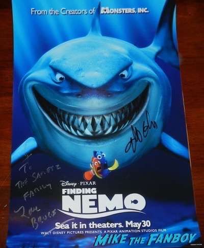 albert brooks signed finding nemo poster