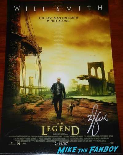 Will Smith signed autograph I am legend poster