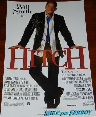 Will Smith signed autograph Hitch poster