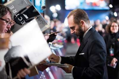 October 26, 2015 - London, England: Ralph Fiennes attends the Royal World Premiere of SPECTRE at Royal Albert Hall.
