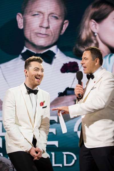 October 26, 2015 - London, England: Sam Smith attends the Royal World Premiere of SPECTRE at Royal Albert Hall.