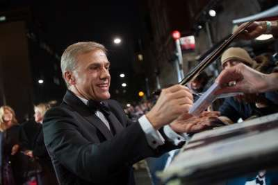 October 26, 2015 - London, England: Christoph Waltz attends the Royal World Premiere of SPECTRE at Royal Albert Hall.