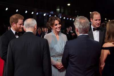 October 26, 2015 - London, England: October 26, 2015 - London, England: (L to R) Prince Harry, Producer Michael G. Wilson, Catherine, Duchess of Cambridge, Director Sam Mendes, Prince William, Duke of Cambridge and Producer Barbara Broccoli attend the Royal World Premiere of SPECTRE at Royal Albert Hall. at the Royal World Premiere of SPECTRE at Royal Albert Hall.