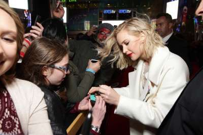 Jennifer Lawrence seen at Los Angeles Premiere of Lionsgate's 'The Hunger Games: Mockingjay - Part 2' on Monday, November 16, 2015, in Los Angeles, CA. (Photo by Eric Charbonneau/Invision for Lionsgate/AP Images)