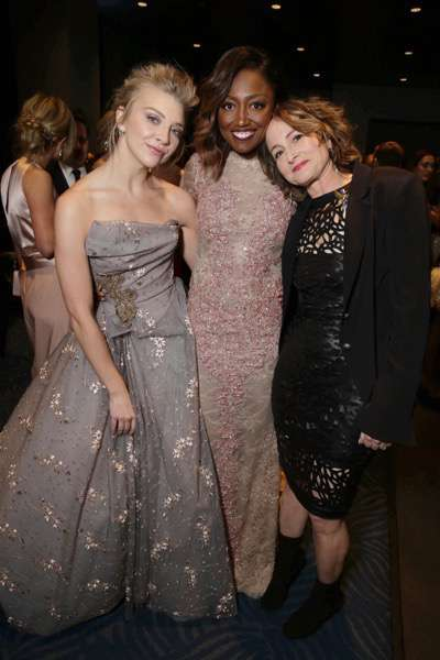 Exclusive - Natalie Dormer, Patina Miller and producer Nina Jacobson seen at Los Angeles Premiere of Lionsgate's 'The Hunger Games: Mockingjay - Part 2' on Monday, November 16, 2015, in Los Angeles, CA. (Photo by Eric Charbonneau/Invision for Lionsgate/AP Images)