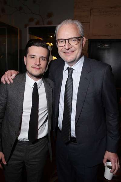 Exclusive - Josh Hutcherson and Director Francis Lawrence seen at The Hunger Games: Mockingjay Part 2 cast Hand and footprint ceremony at Hollywood Blvd. on Saturday, October 31, 2015, in Los Angeles, CA. (Photo by Eric Charbonneau/Invision for Lionsgate/AP Images)