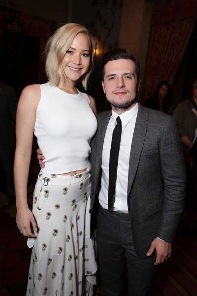 Exclusive - Jennifer Lawrence and Josh Hutcherson seen at The Hunger Games: Mockingjay Part 2 cast Hand and footprint ceremony at Hollywood Blvd. on Saturday, October 31, 2015, in Los Angeles, CA. (Photo by Eric Charbonneau/Invision for Lionsgate/AP Images)