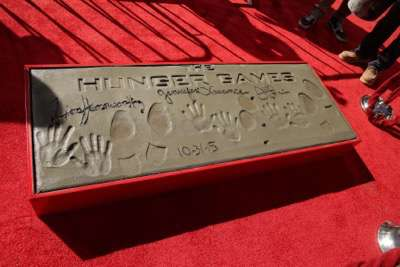 A general view of atmosphere seen at The Hunger Games: Mockingjay Part 2 cast Hand and footprint ceremony at Hollywood Blvd. on Saturday, October 31, 2015, in Los Angeles, CA. (Photo by Eric Charbonneau/Invision for Lionsgate/AP Images)