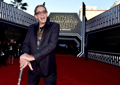 HOLLYWOOD, CA - DECEMBER 14:  Actor Peter Mayhew attends the World Premiere of ?Star Wars: The Force Awakens? at the Dolby, El Capitan, and TCL Theatres on December 14, 2015 in Hollywood, California.  (Photo by Alberto E. Rodriguez/Getty Images for Disney) *** Local Caption *** Peter Mayhew