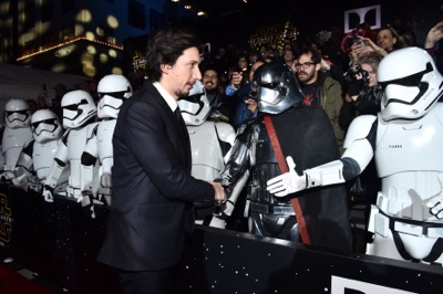 HOLLYWOOD, CA - DECEMBER 14:  Actor Adam Driver attends the World Premiere of ?Star Wars: The Force Awakens? at the Dolby, El Capitan, and TCL Theatres on December 14, 2015 in Hollywood, California.  (Photo by Alberto E. Rodriguez/Getty Images for Disney) *** Local Caption *** Adam Driver