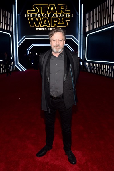 HOLLYWOOD, CA - DECEMBER 14:  Actor Mark Hamill attends the World Premiere of ?Star Wars: The Force Awakens? at the Dolby, El Capitan, and TCL Theatres on December 14, 2015 in Hollywood, California.  (Photo by Alberto E. Rodriguez/Getty Images for Disney) *** Local Caption *** Mark Hamill