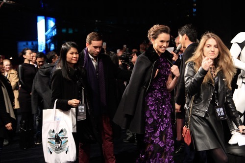 SHANGHAI, CHINA - DECEMBER 27:  From left to right, J.J. Abrams, Daisy Ridley, John Boyega, Kathleen Kennedy, attend the premiere of Star Wars on December 27, 2015 in Shanghai, China.