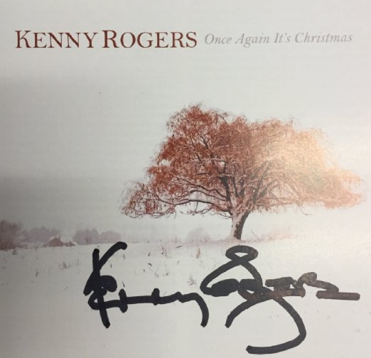 kenny rogers once again it's christmas signed cd