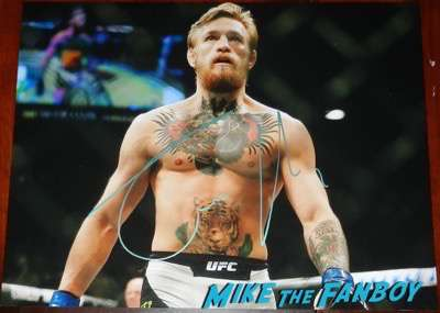 Conor Mcgregor signed autograph shirtless photo rare abs